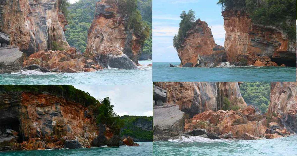 โนอึล ทำพิษ ทำเขาหินปูนกลางทะเลหมู่เกาะอ่างทองถล่ม