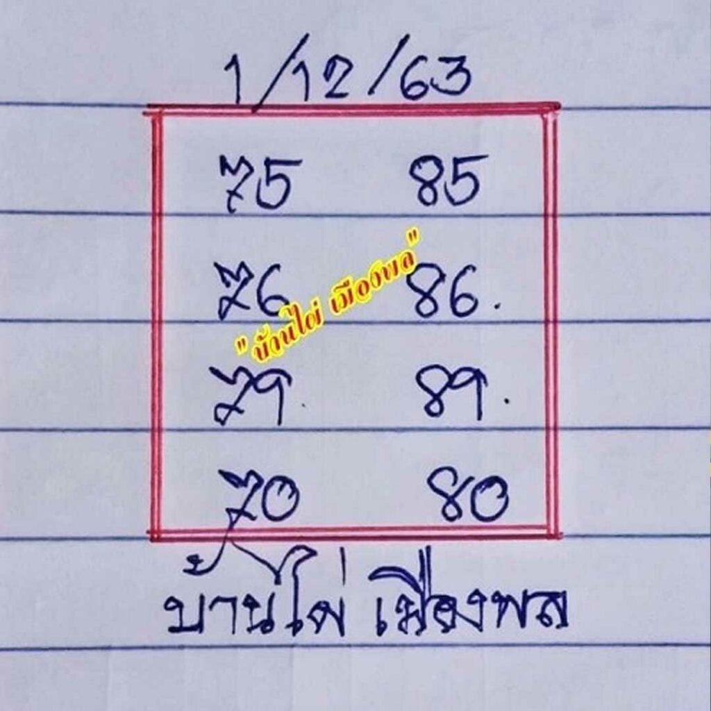 แจกเลขเด็ด แนวทางหวยดัง บ้านไผ่เมืองพล 1/12/63